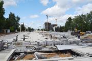 Срок сдачи Центральной площади в Ижевске затягивается из-за дождей