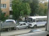 В Глазове произошло два ДТП с участием автобусов