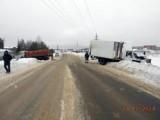 Два грузовика столкнулись в Глазове