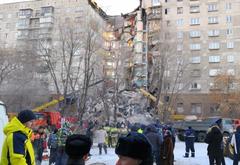 Президент России вылетел в Магнитогорск на место обрушения многоэтажного жилого дома