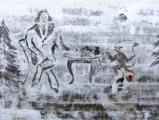 Художник-дворник из Ижевска изобразил на снегу Гоголя