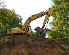 В Горсаду продолжаются работы по строительству смотровой площадки