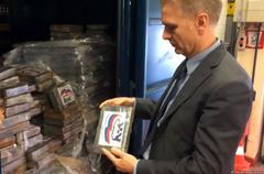 В Бельгии задержали две тонны кокаина с логотипом «Единой России»