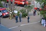 В глазовской ЦРБ прошли пожарно-тактические учения