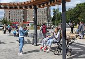 В Глазове 30 июня открыли обновленную привокзальную площадь