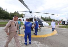 В Глазове прошла первая эвакуация пациента санитарной авиацией