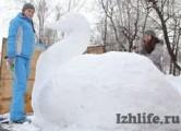 В Ижевске выбрали лучшие снежные скульптуры