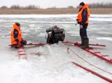 Три рыбака на снегоходе провалились под лёд в Удмуртии