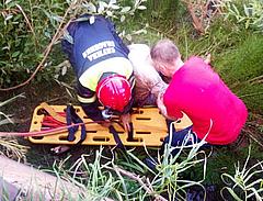 В Глазове спасли мужчину, упавшего с бетонного ограждения на берегу Чепцы