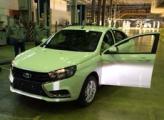 В интернет попали фотографии первого собранного в Ижевске седана Lada Vesta