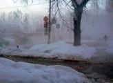 Авария на теплотрассе оставила несколько домов без воды