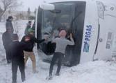 В Турции перевернулся автобус с российскими туристами