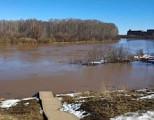 Уровень воды в Чепце поднялась примерно на 4 метра
