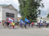 12 июня в Глазове состоялся велопробег, посвященный Дню России