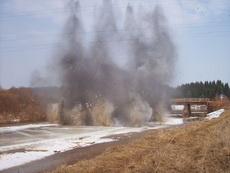Взрывные работы на реках Удмуртии начнутся во второй половине марта
